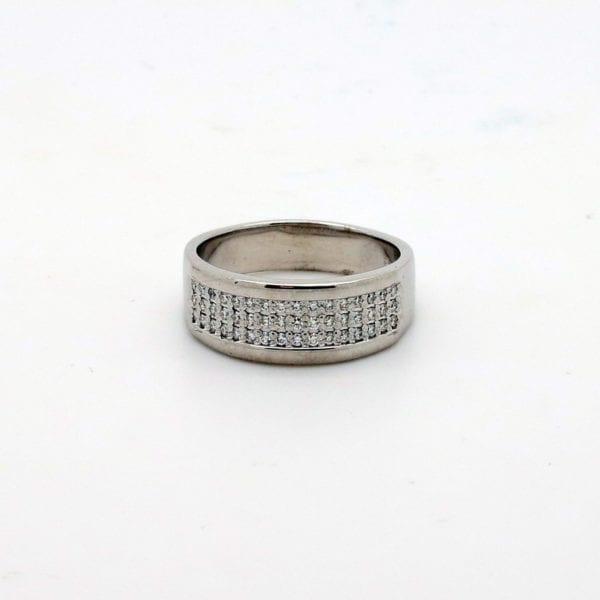 9ct White Gold Multi Band Ring