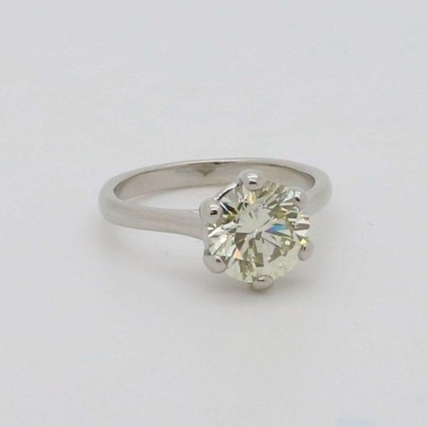 Bespoke solitaire diamond engagement ring