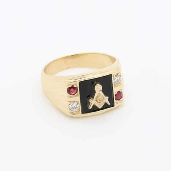 Gents 9ct Gold Masonic Ring