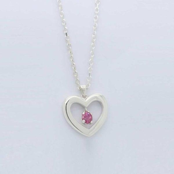 Bespoke Silver Solid Heart Pendant