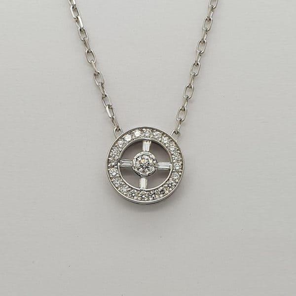Ladies Bespoke Diamond Pendant Cropped 800x800px