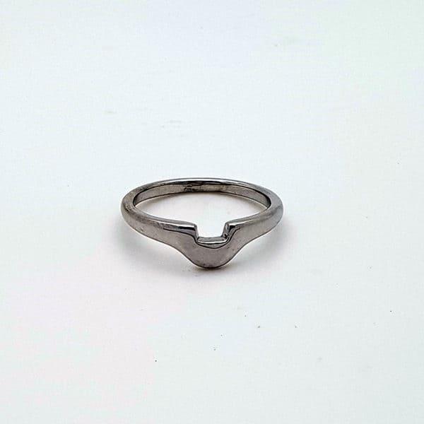 Shaped White Gold Wedding Ring