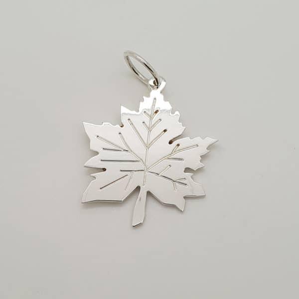 Sterling Silver Maple Leaf Pendant