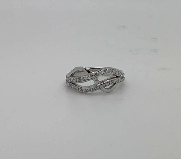 Bespoke Ladies Diamond Crossover Ring